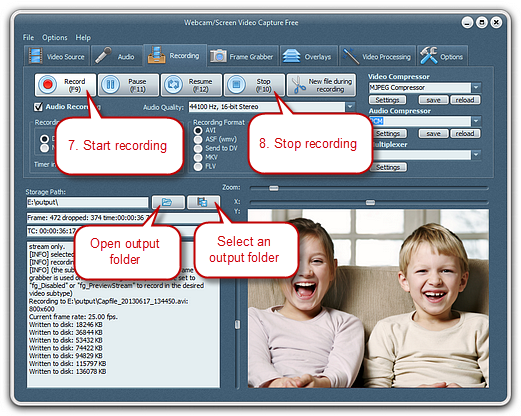 Specify Recording Settings & Start Recording