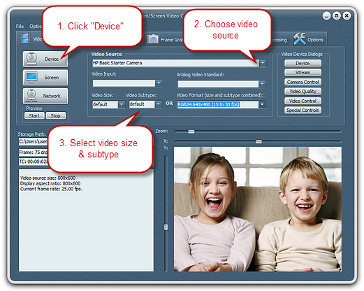 Choose Recording Video Source & Set the Output Video